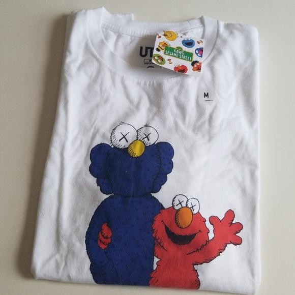 839d059681b Uniqlo Shirts | Brand New Kaws X Sesame Street Tshirt M | Poshmark